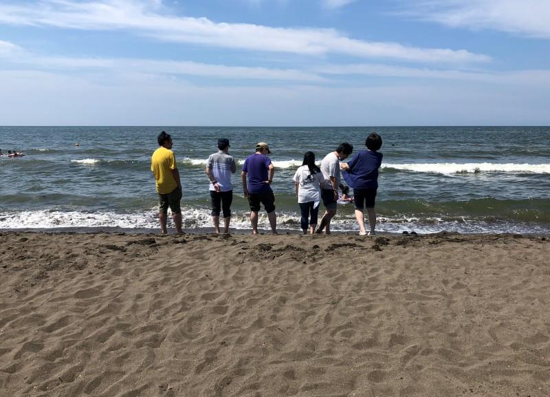 とうとう来てしまった!?!8月1日に望来浜中央海水浴場に行ってきました♪